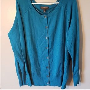 Lane Bryant Blue Button Up Cardigan Size 18/20